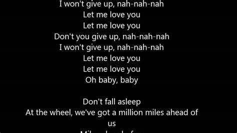 Justin Bieber Song Lyrics Love Me