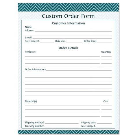 Custom Order Form  Fillable  Business Planner