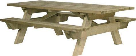 plan table de jardin en bois avec banc integre jsscene