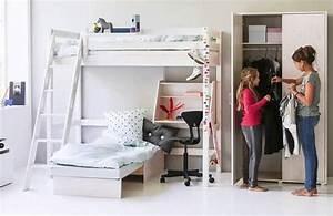 Hochbett Mit Sofa : flexa hochbett classic mit sofabett kiefer wei m bel ~ Watch28wear.com Haus und Dekorationen
