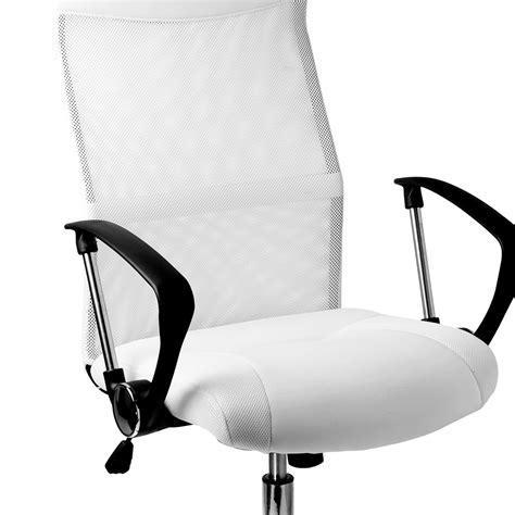 chaise bureau blanche fauteuil chaise de bureau blanche inclinable ergonomique
