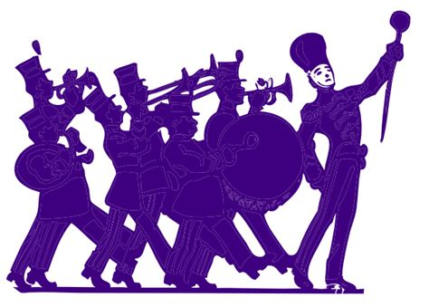 Marching Band Clipart Marching Band Purple On White Clip At Clker