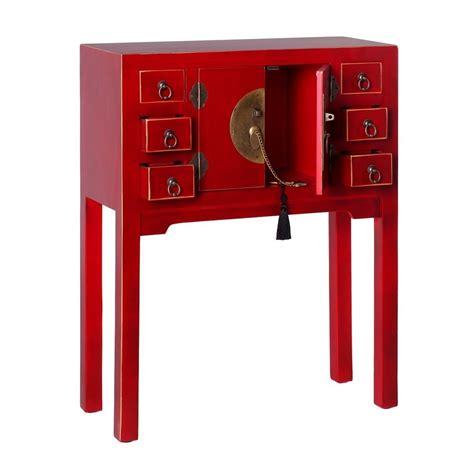 console cinesi consolle cinese colore rosso mobili ingresso cinesi
