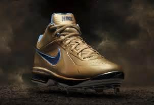 Gold Nike Baseball Cleats