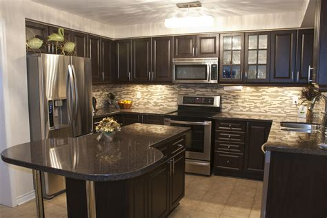 Check out our kitchen countertop selection for the very best in unique or custom, handmade pieces from our home & living shops. Magnificent Kitchen Designs With Dark Cabinets