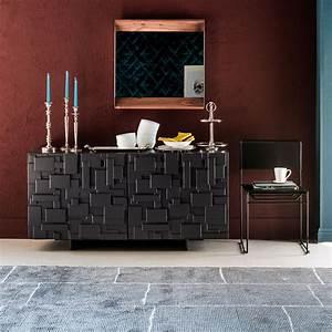 Meuble Haut Salon : buffet salon design en bois mondrian idkrea collection d 39 exception ~ Teatrodelosmanantiales.com Idées de Décoration