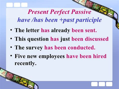 Present Perfect Passive Voice Worksheet  German Handouts For Classroom Use Or Independent