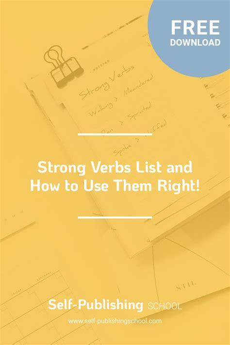 strong verbs  easy guide   understanding