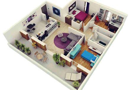 denah rumah minimalis  kamar tidur  tiga dimensi