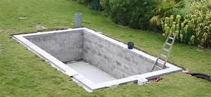 autoconstruction 6x3 blocs a bancher et liner piscines With marvelous construction piscine hors sol en beton 15 bloc piscine