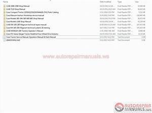 Case Tractor Service Manual  Operators Manual  U0026 Parts