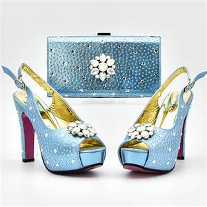Latest Sliver Color Italian Ladies Shoes And Bags To Match