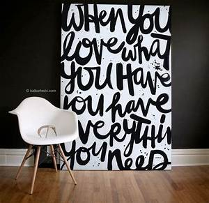 best 20 big wall letters ideas on pinterest girls rugs With what kind of paint to use on kitchen cabinets for quote canvas wall art