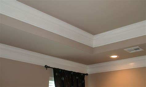 tray ceiling crown molding bedroom tray