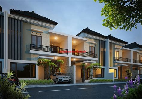 magnificent minimalist town house  klaten home design
