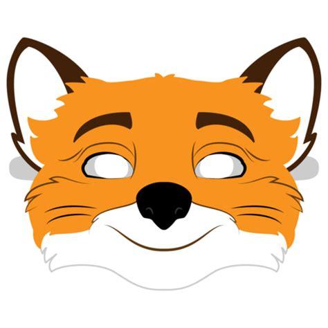 fantastic  fox mask template  printable papercraft templates