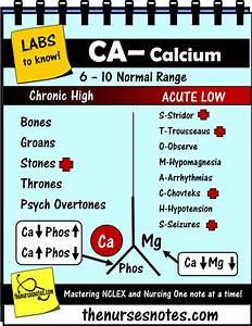 Student Nursing Labs Mnemonics Potassium  Calcium