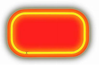Neon Clipart Backgrounds Numerals Orange Lighting Clipground