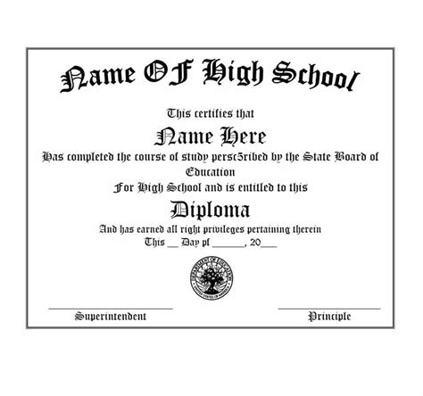 real fake diploma templates high school college