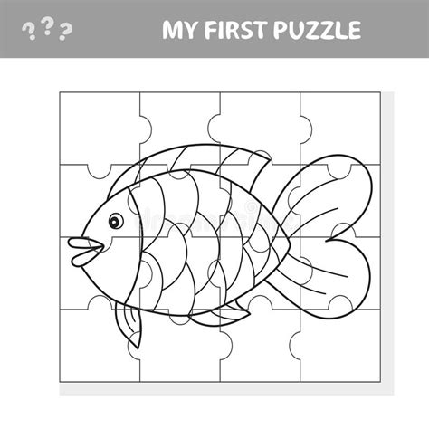 learning parts  fish  kids worksheet stock vector
