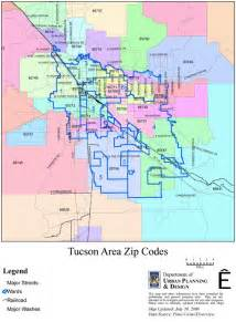 Tucson Zip Code Map