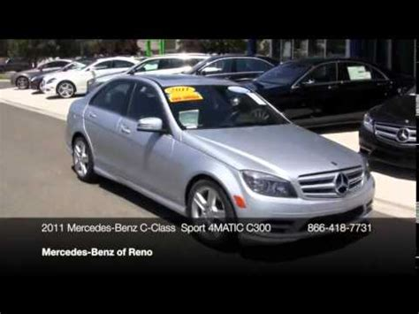 It was first introduced to the public back in 2007, during the geneva motor show. 2011 Mercedes-Benz C-Class C-Class 4dr Sedan C300 Sport 4MATIC Sedan - Reno, NV - YouTube