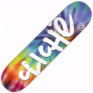 cliche skateboards cliche handwritten gitd tie dye