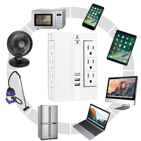 wall surge power protector outlets multi plug usb strip outlet swivel ports lovin protected tap
