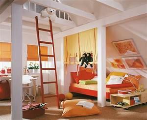 Kinderzimmer Mit Schreibtisch : jungen kinderzimmer f r zehnj hrige schr ge w nde ~ Michelbontemps.com Haus und Dekorationen