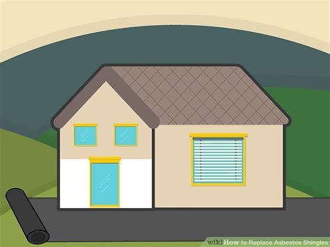 replace asbestos shingles  pictures wikihow