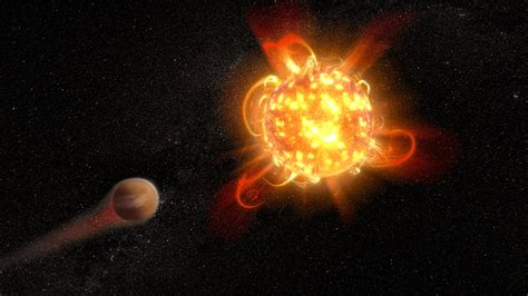 asu astronomers catch red dwarf star   superflare