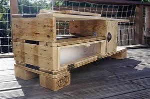 recup design meuble tele en bois de palettes de With meubles en palettes de recuperation