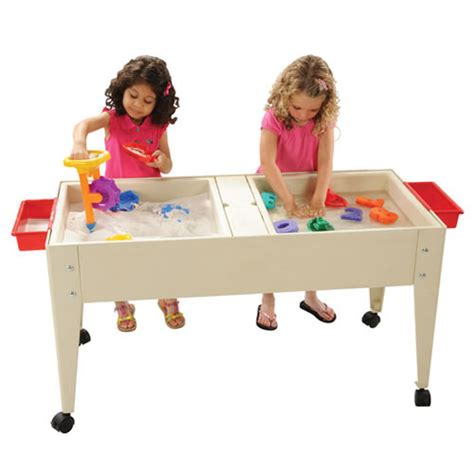 play day sand and water activity table double tray sand and water table sand