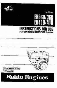 Subaru Robin Eh41 Manual Del Usuario Pdf Subaru