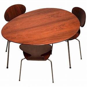 Egg Chair Arne Jacobsen : exceptional early brazilian rosewood egg table and ant chairs by arne jacobsen for sale at 1stdibs ~ Bigdaddyawards.com Haus und Dekorationen