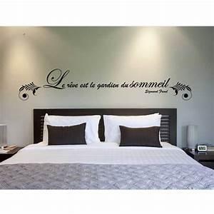 sticker mural le reve est le gardien du sommeil motif With dessin mural chambre adulte