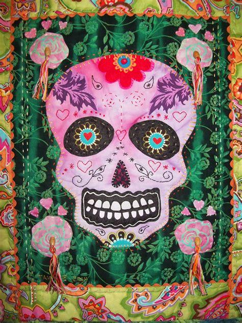sugar skull quilt cooler quilts day of the dead sugar skulls quilts