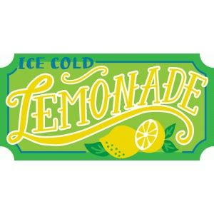silhouette design store view design  lemonade sign