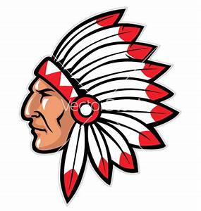 indianmascot | Indian head mascot vector | indian mascots ...