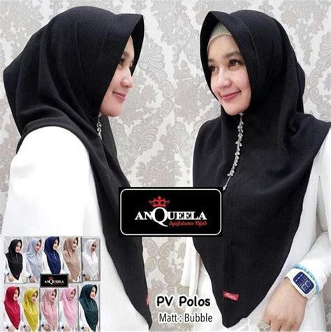 jilbab pv polos anqueela sentral grosir jilbab  produsen jilbab  grosir jilbab terbaru