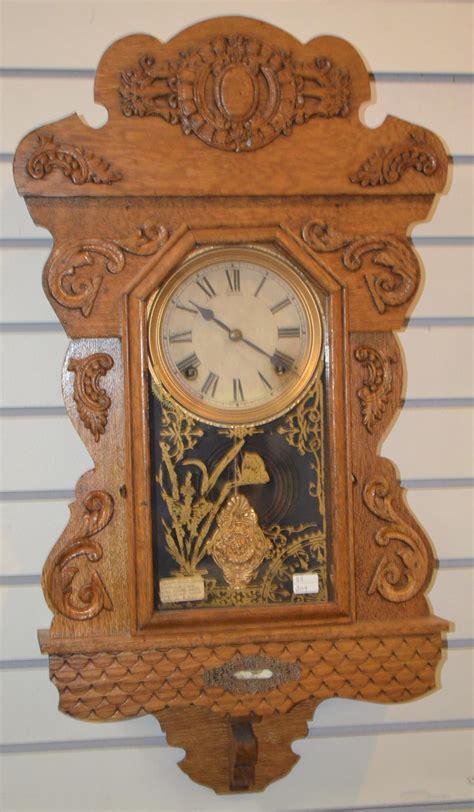 antique oak sessions hanging kitchen clock