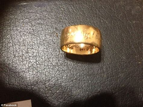 wedding ring that disappeared while was giving birth is returned after more than a decade