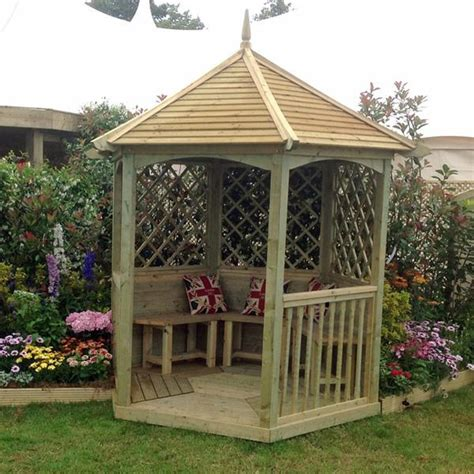 outdoor wooden gazebo m m timber small abbey wooden gazebo internet gardener