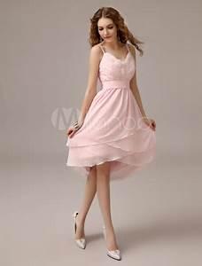 Robe Rose Pale Demoiselle D Honneur : robe demoiselle d 39 honneur en chiffon rose avec plissement ~ Preciouscoupons.com Idées de Décoration
