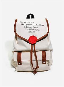 harry potter hogwarts letter slouch backpack boxlunch With harry potter letter bag
