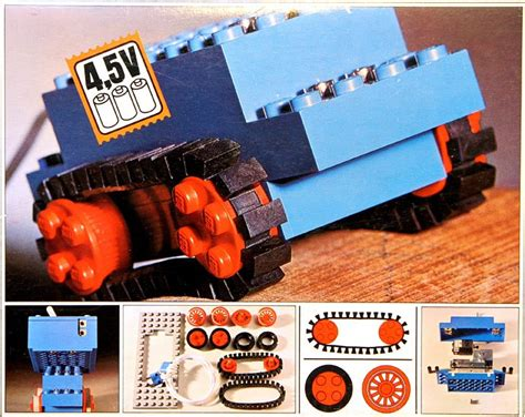 motor set  rubber tracks brickset lego