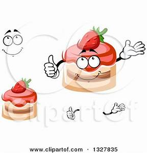 Royalty-Free (RF) Strawberry Cake Character Clipart ...