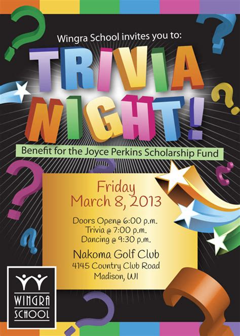 trivia night flyer templates trivia night event flyer special event flyer designs