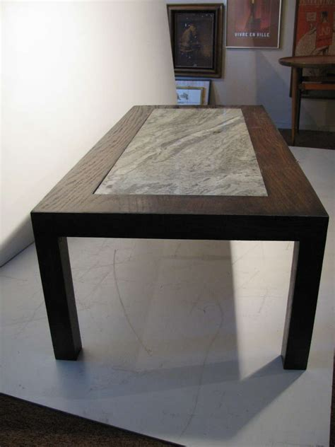modernist granite top cocktail table in the style of