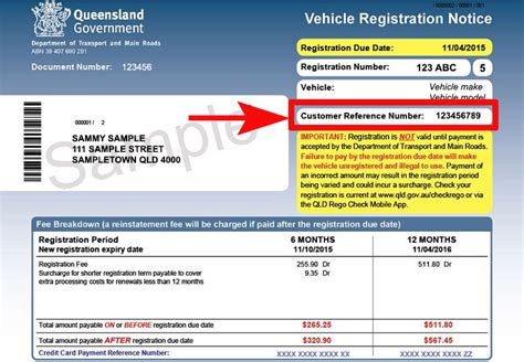 Boat Registration Qld Transfer Form by Where To Find Your Customer Reference Number Transport